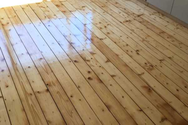 pine sanded floor