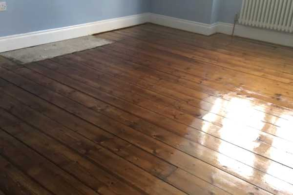 stained and varnished floor