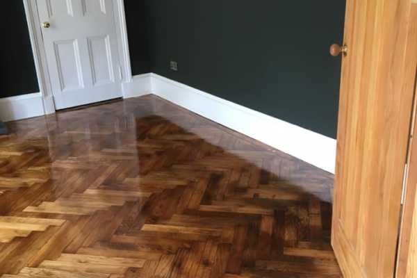 stained parker floor
